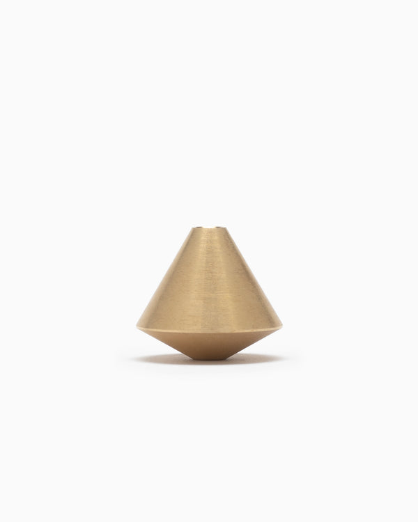 Acorn Brass Incense Holder - Elemense