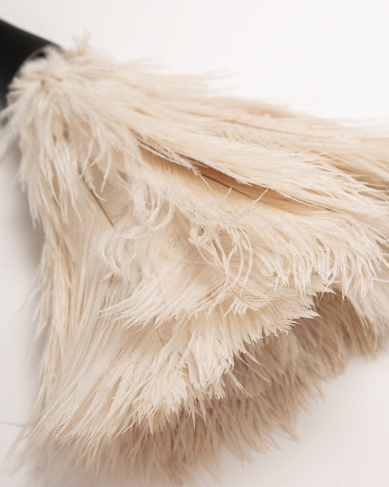 White Top Feather Duster
