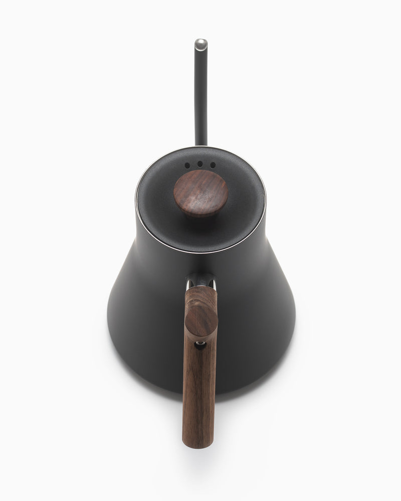 Fellow Matte Black EKG Electric Kettle with Walnut Handle