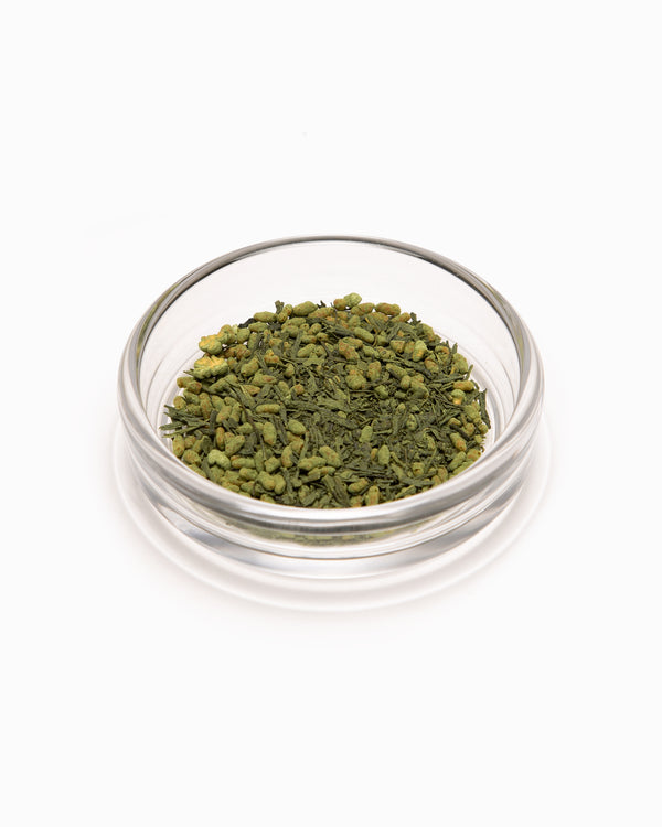 Matcha Genmaicha 2oz Jar - Leaves & Flowers