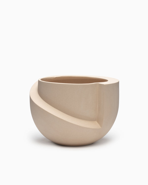 Vayu Ceramic Tabletop Planter Sand - L&L