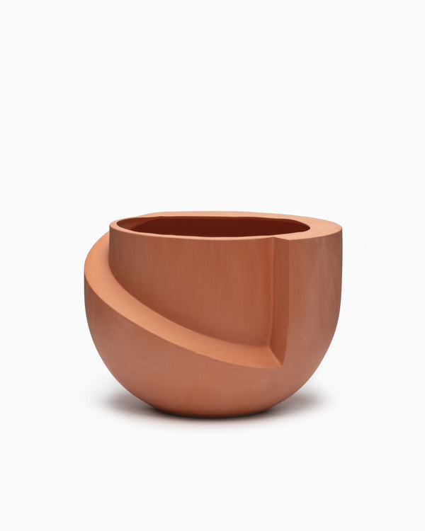 Vayu Ceramic Tabletop Planter Terracotta - L&L