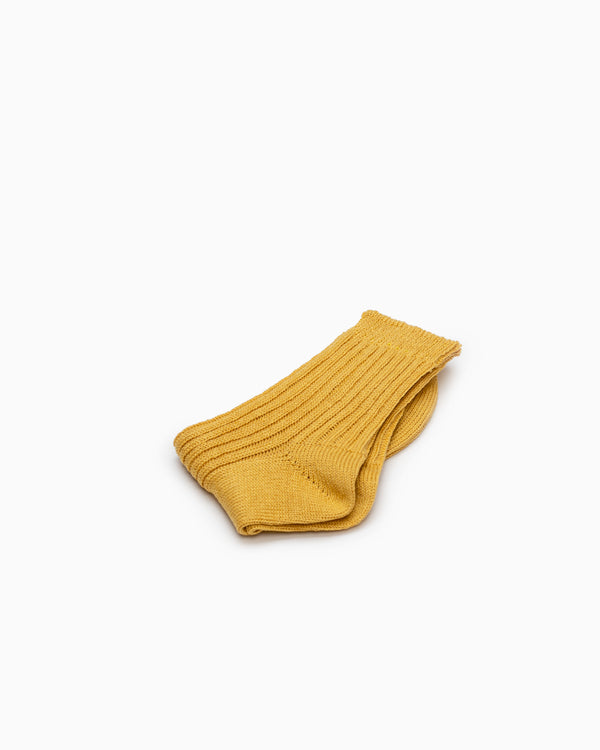 Linen Ribbed Socks - Yellow