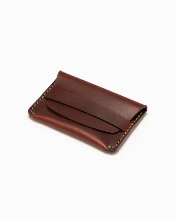 MAKR Flap Slim Wallet - Oxblood