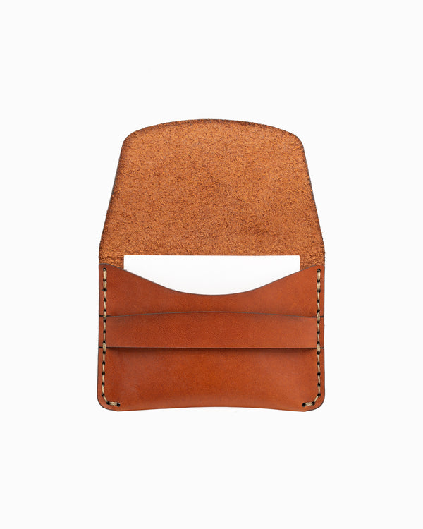 MAKR Flap Slim Wallet - Saddle Tan