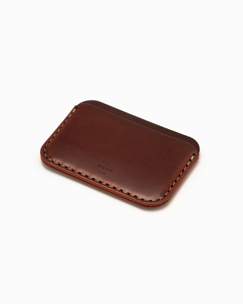 MAKR Round Wallet - Oxblood