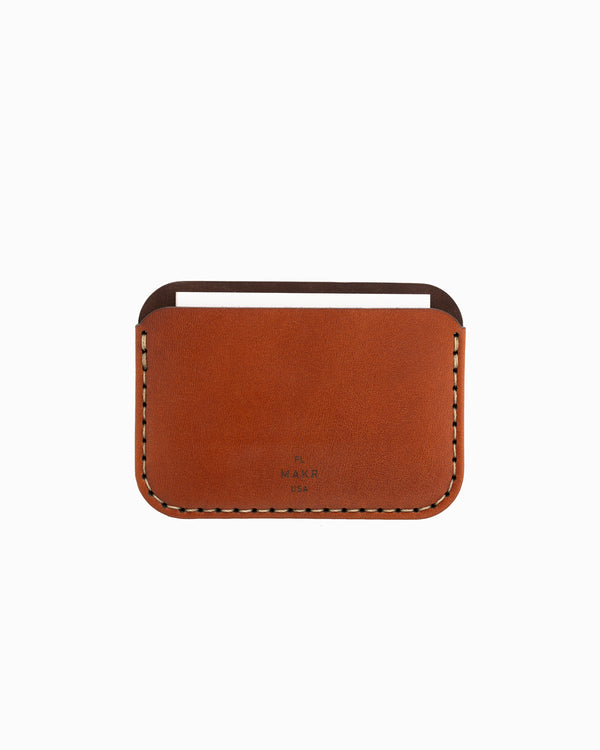 MAKR Round Wallet - Saddle Tan