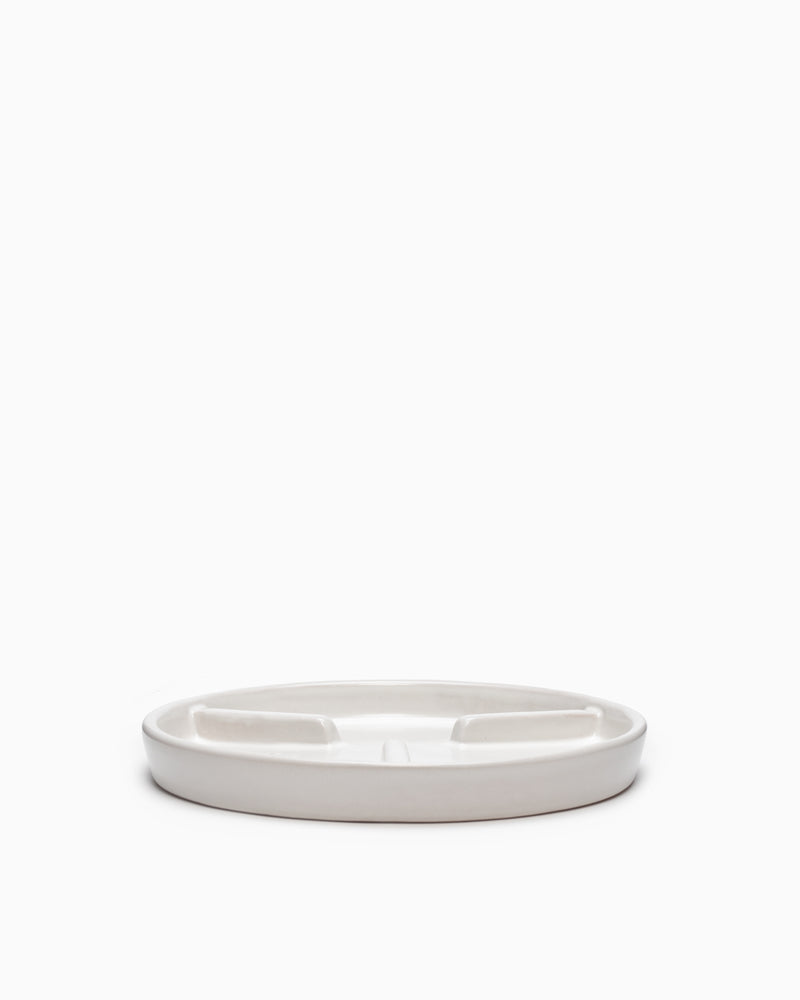X-Large Deep Saucer Matte White