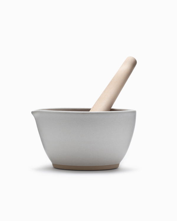 Mujun Suribachi Pestle & Mortar Large - White