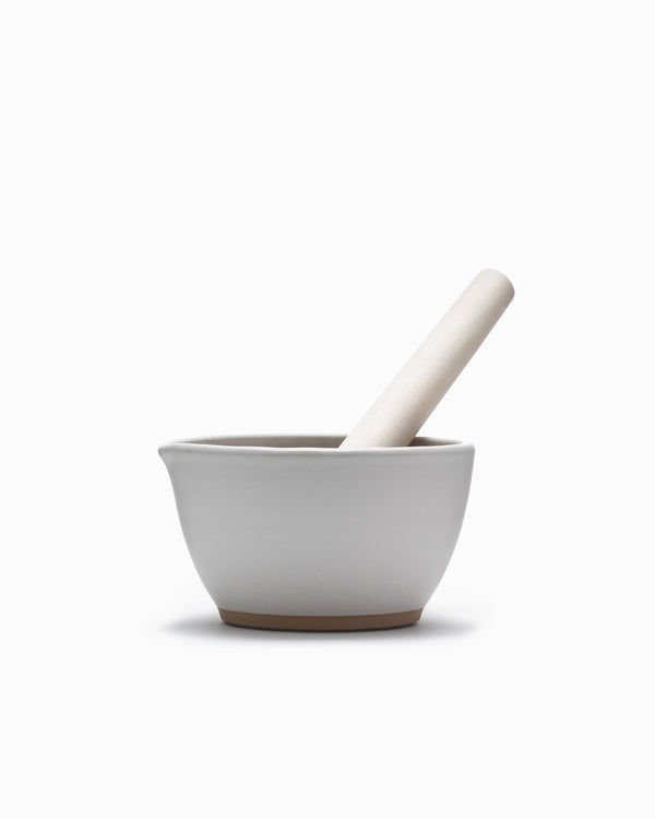 Mujun Suribachi Pestle & Mortar Medium - White