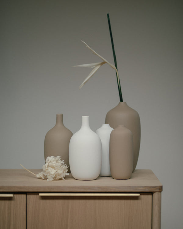 Ceola Vase - Small White