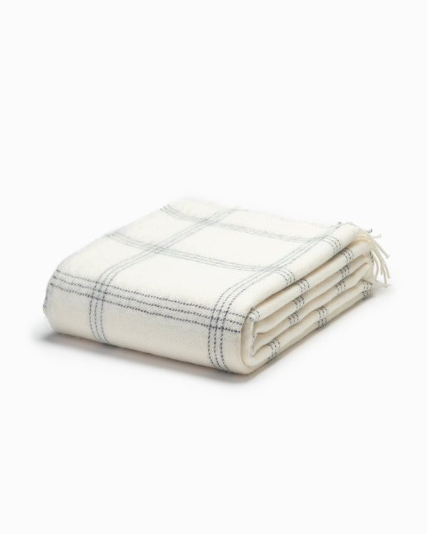 OFS. Alpaca White Pearl Window Throw