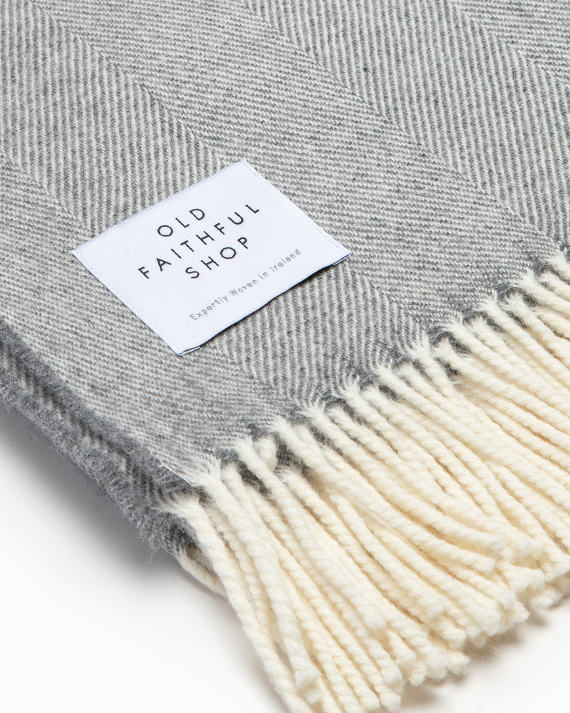 OFS. Merino Lambswool Throw - Grey