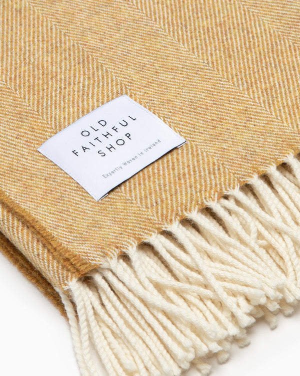 OFS. Merino Lambswool Throw - Mead