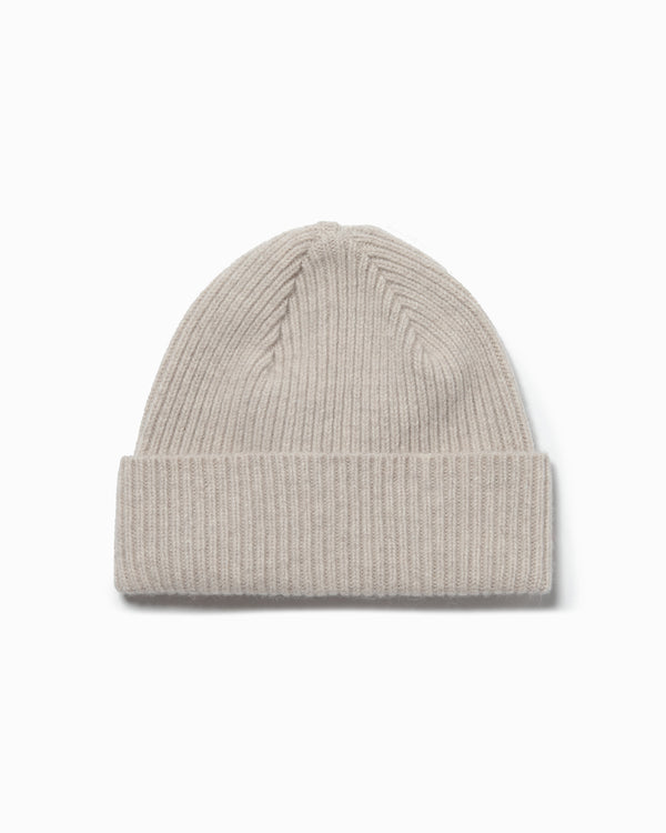 Lambswool/Angora Knit Hat - Natural