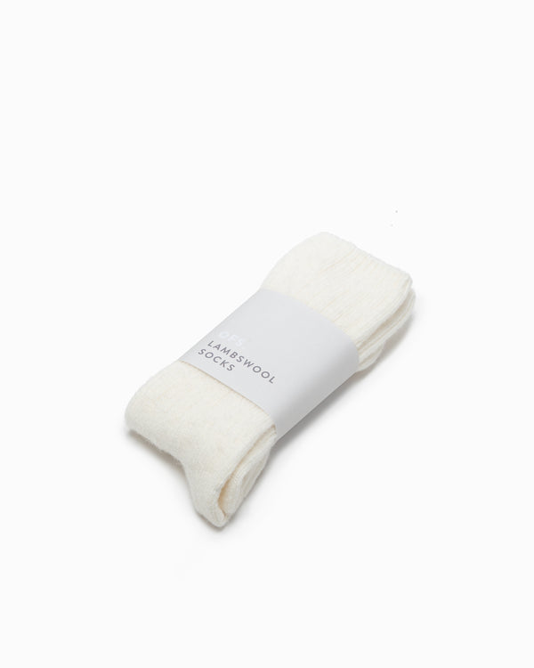 OFS. Lambswool Socks - Natural