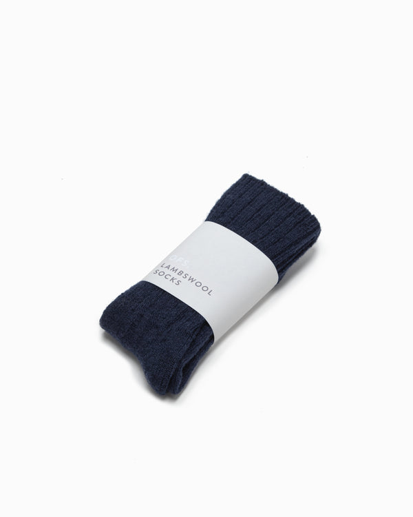 OFS. Lambswool Socks - Navy
