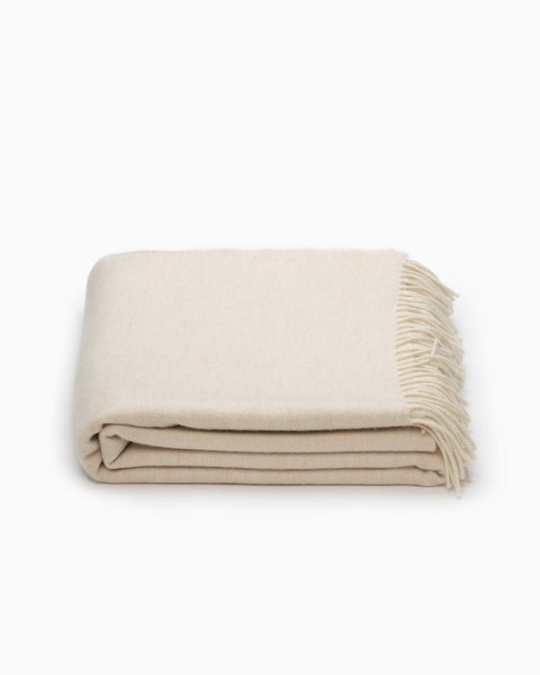 OFS. Merino Lambswool XL Throw - Linen