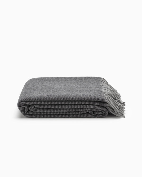 OFS. Merino Lambswool Throw - Graphite