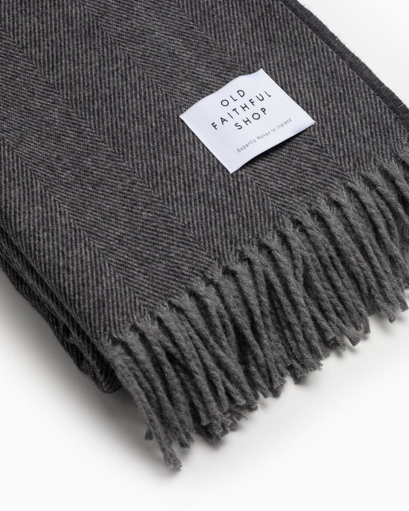 OFS. Merino Lambswool Throw - Gaphite