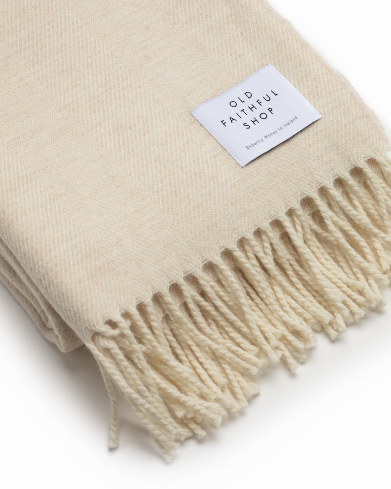 OFS. Merino Lambswool Throw - Linen