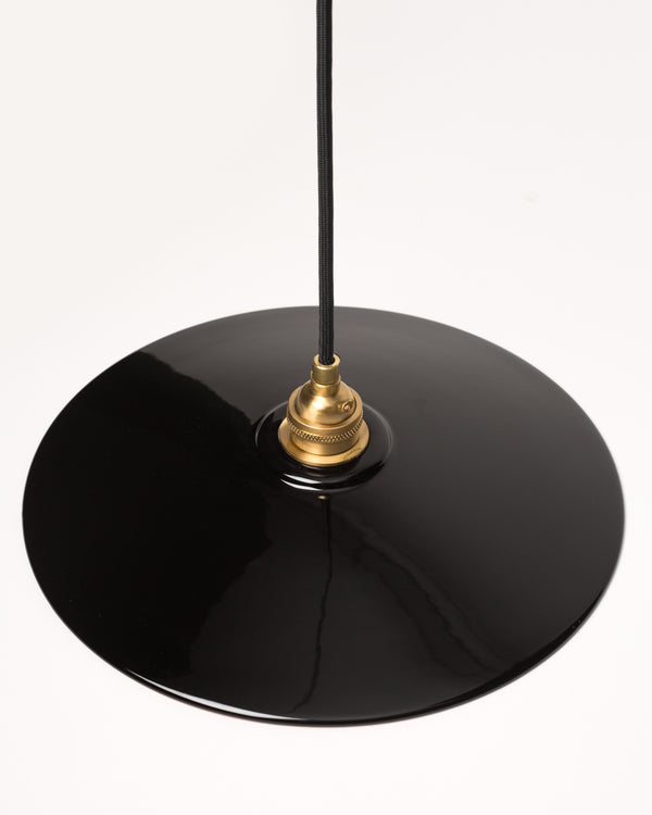 Ceramic Dish Shade - Black/Copper
