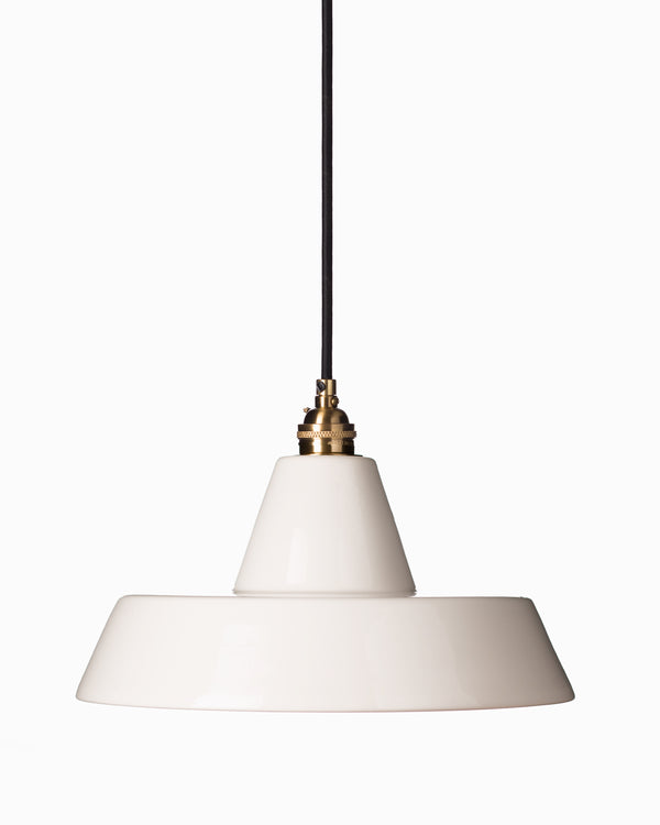 Ceramic Warehouse Shade - White
