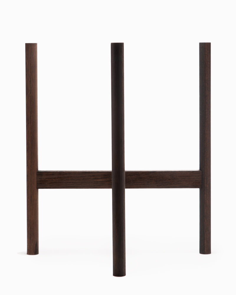 OFS. Darkened Oak Plant Stand - Extra Large