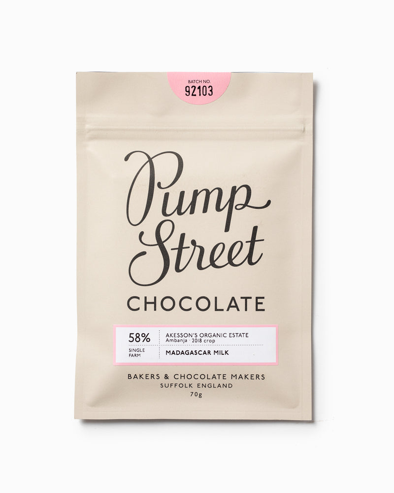 Madagascar Milk 58% - Pump Street Chocolate