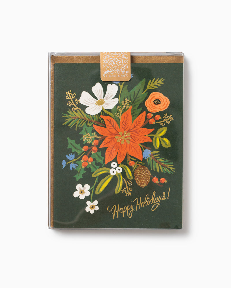 Boxed Set of 8 Holiday Bouquet Cards