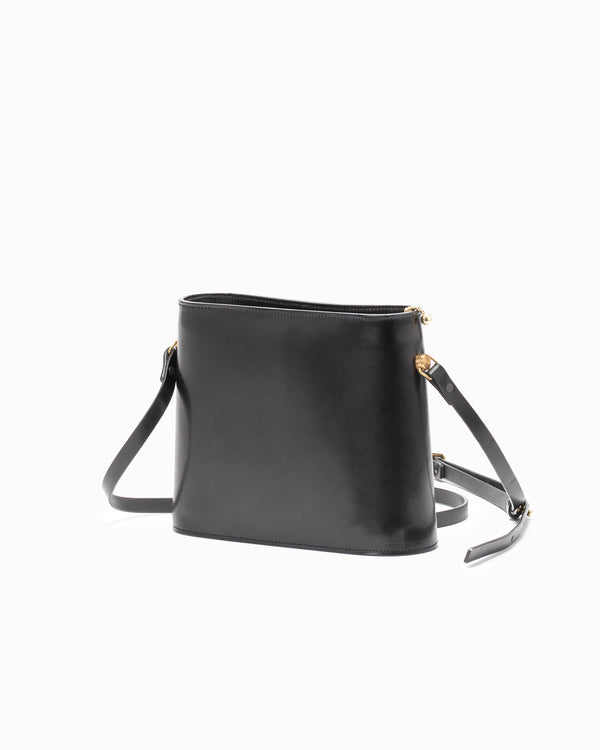 SFI. Leather Shoulder Bag - Black