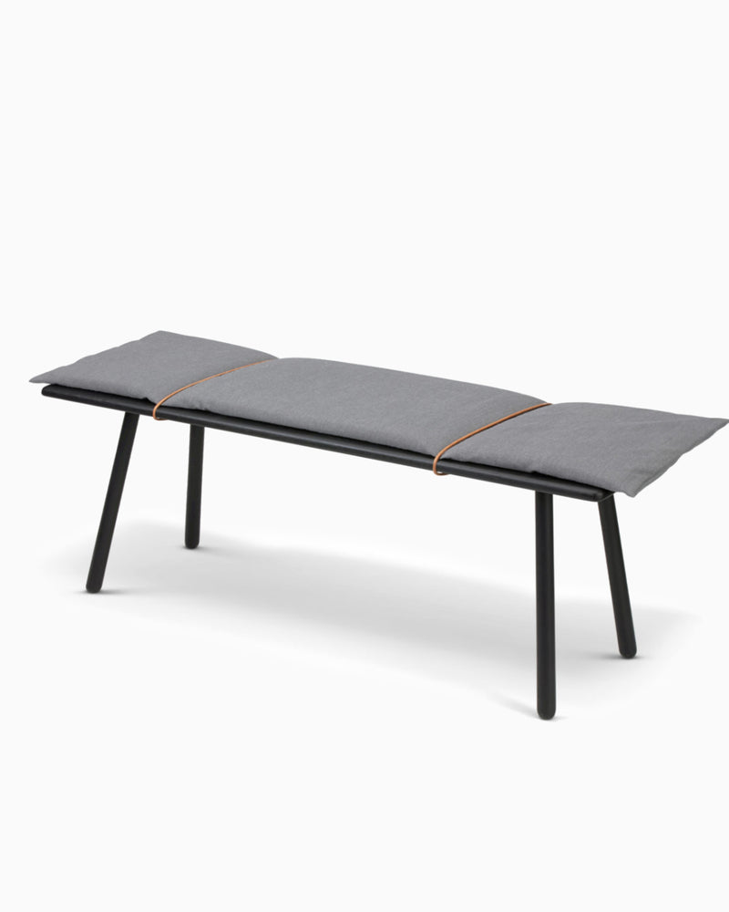 Georg Bench w/cushion - Black Oak