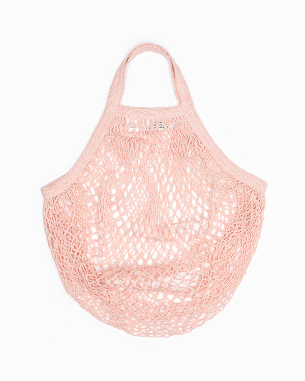 Short Handle String Bag - Blush
