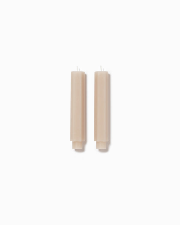 Fancy Taper Candle Small - Parchment