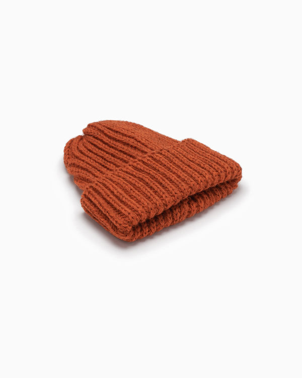 OFS. Chunky Knit Wool Hat - Burnt Orange