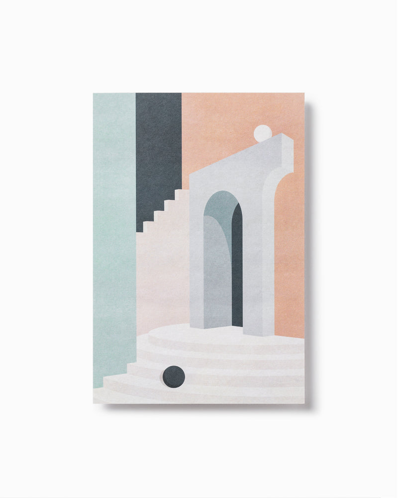 Pastel Doorway & Stairs Greeting Card