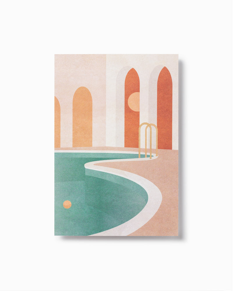 Pool with Arches Greeting Card