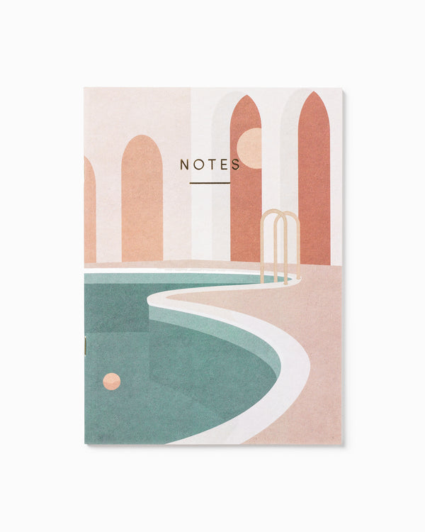 Pool with Arches Notebook A5