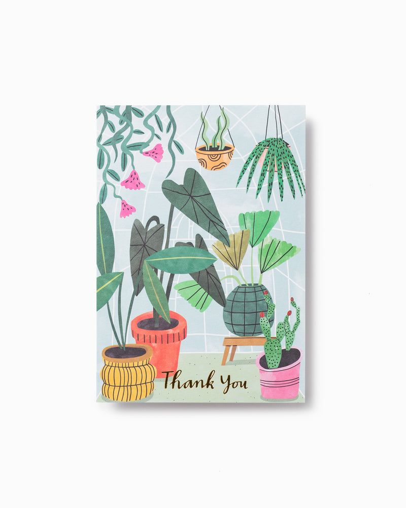 Thank You Greenhouse Greeting Card