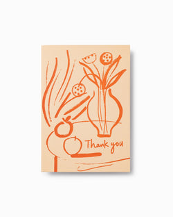 Thank you Still Life Letterpress Greeting Card