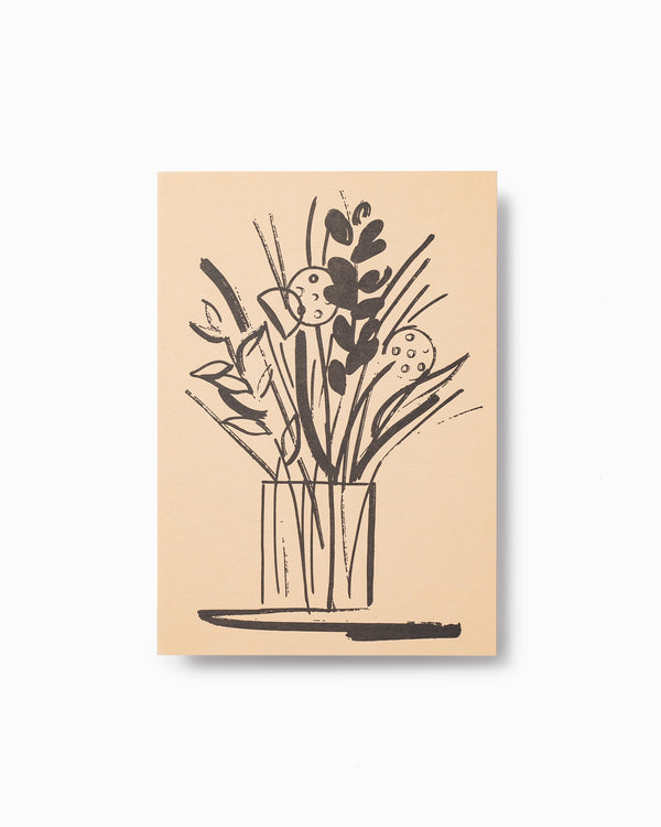 Vases and Stems Letterpress Greeting Card