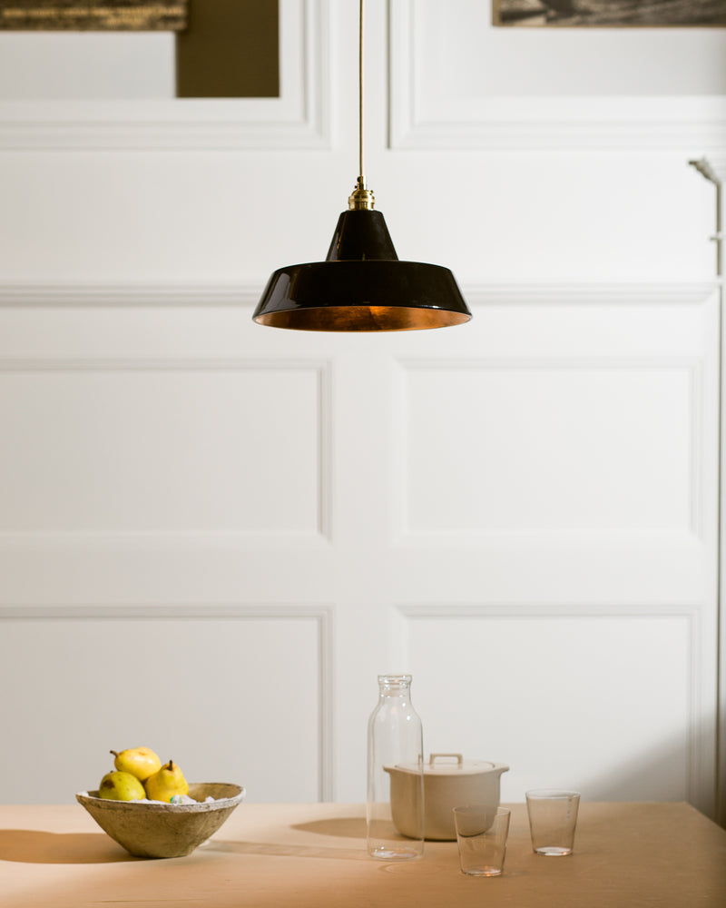 Ceramic Warehouse Shade - Black Copper