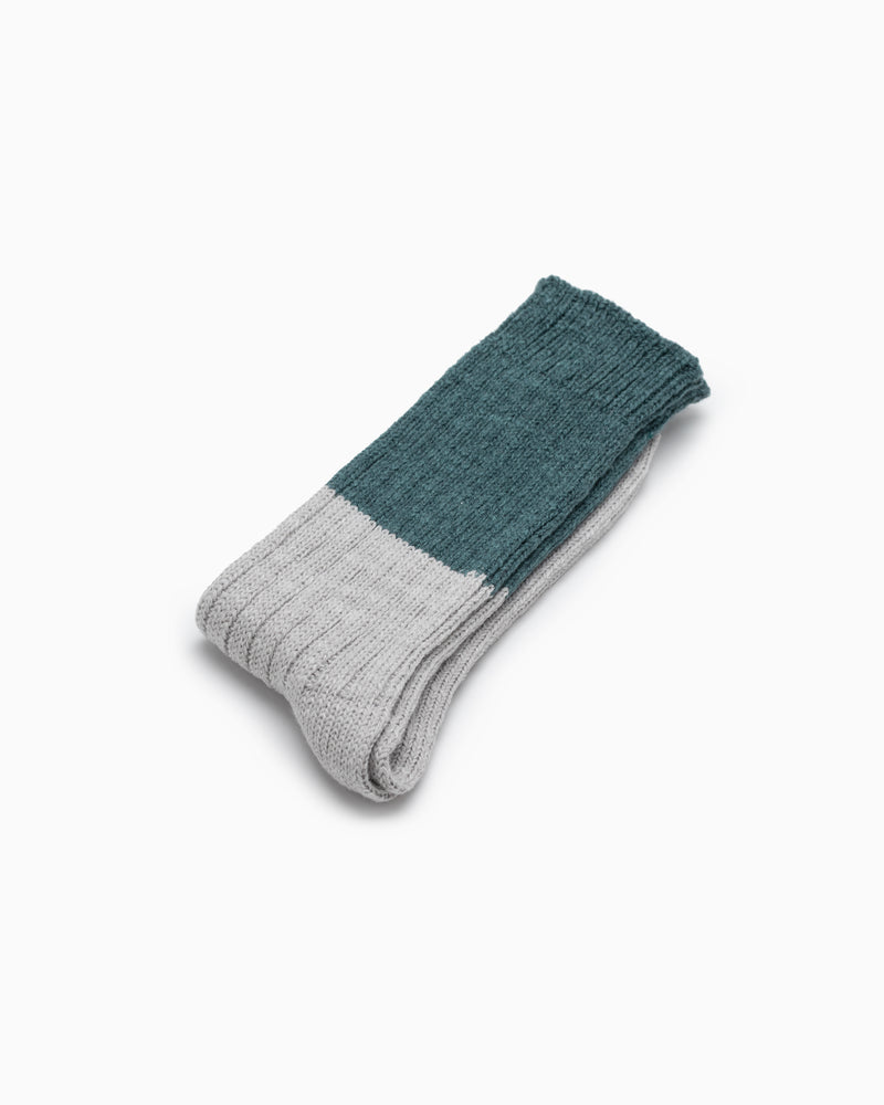 Wool Slab Socks - Green