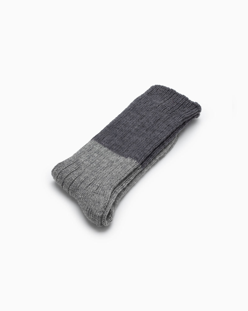 Wool Slab Socks - Charcoal