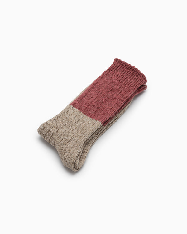 Wool Slab Socks - Red