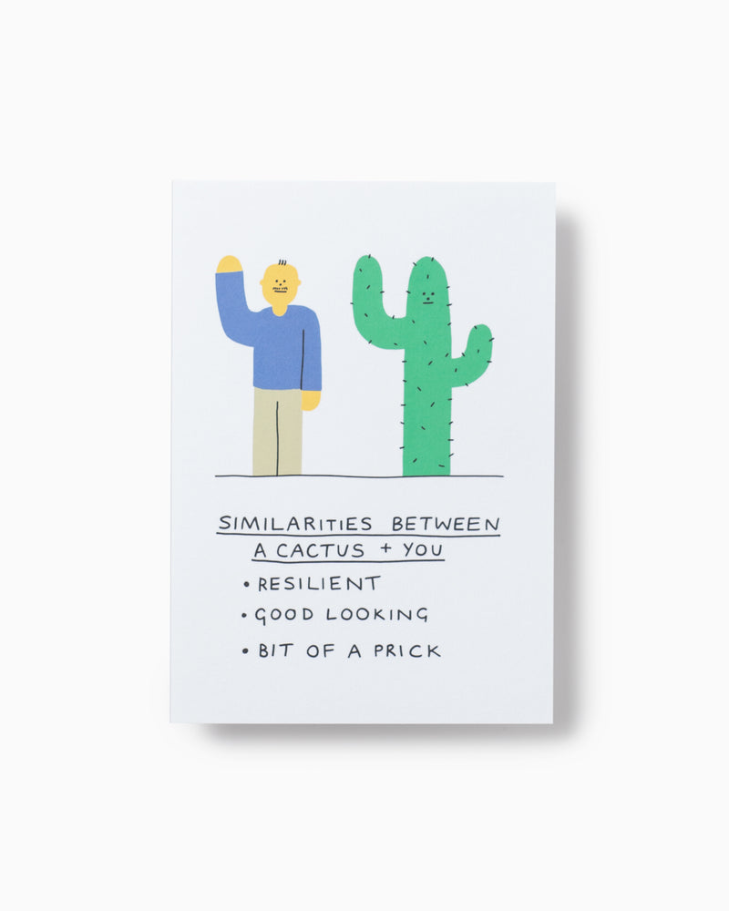Cactus Vs You Greeting Card