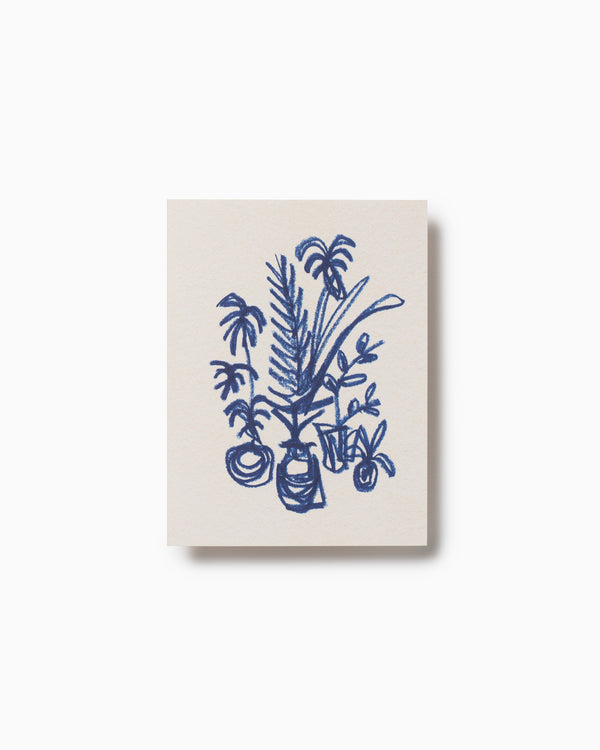 Dark Blue Cluster Greeting Card