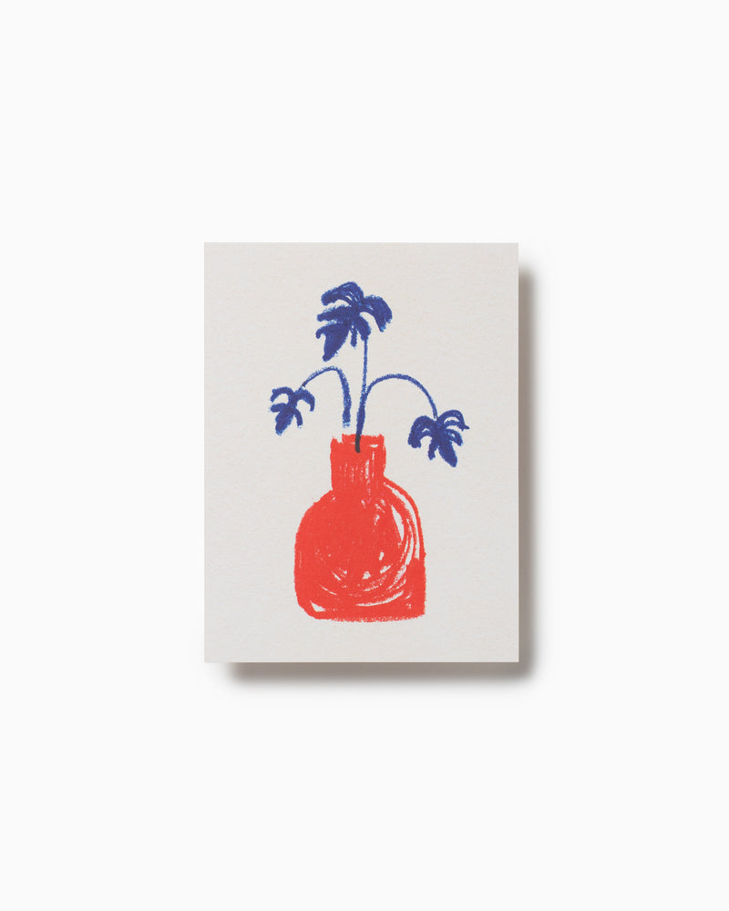 Red Vase Greeting Card