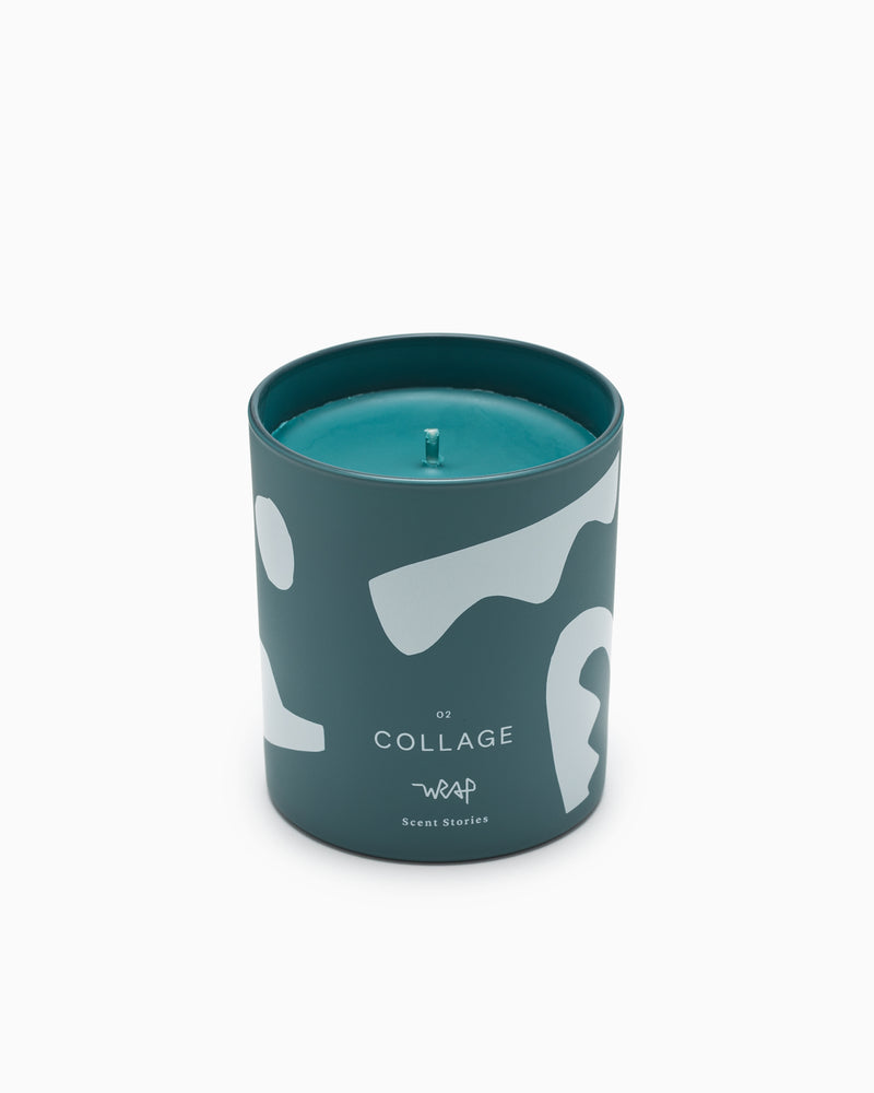 Collage Scented Candle - Wrap