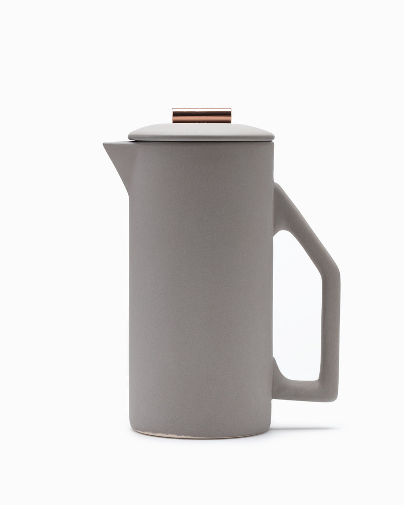 Yield - Matte Gray Ceramic French Press